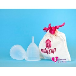 Rubycup menstrual cup clear size Medium